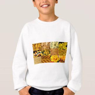黄色/金ゴールドの写真のコラージュ スウェットシャツ