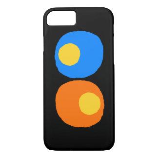 黄色、青およびオレンジデザイン iPhone 8/7ケース
