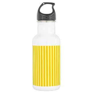 -黄色-黄色および蜜柑の黄色を縞で飾ります ウォーターボトル