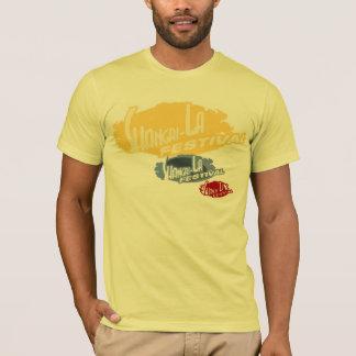 黄色、3ロゴ、フェスティバルのワイシャツ Tシャツ
