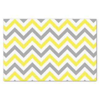 黄色、Dkの灰色白く大きいシェブロンのジグザグパターン 薄葉紙
