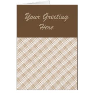 黄褐色の格子縞 カード