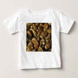 黄褐色の茶色の小石 ベビーTシャツ
