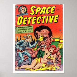 黄金時代の漫画の芸術からの宇宙の探偵 ポスター