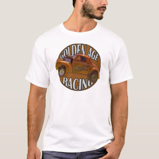 黄金時代のWillys Gasserのドラッグの競争の金ゴールド Tシャツ
