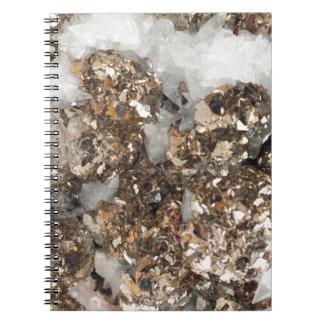 黄鉄鉱および水晶 ノートブック