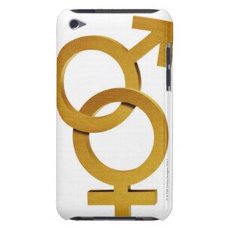 黄銅および女性および男性の記号 Case-Mate iPod TOUCH ケース