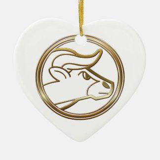 黄銅および銅のトーラスの(占星術の)十二宮図の占星術 セラミックオーナメント