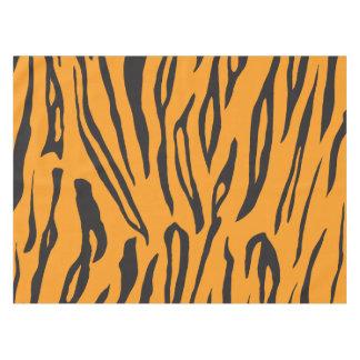 黒いおよびオレンジ動物のストライプのプリントのテーブルクロス テーブルクロス