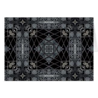 黒いおよび灰色のゴシック様式幾何学的設計 カード