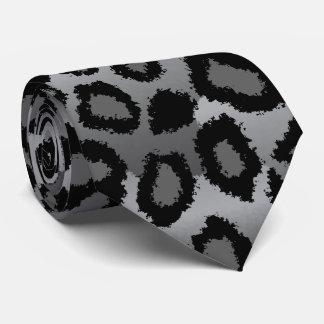 黒いおよび灰色のジャガーのプリント オリジナルタイ