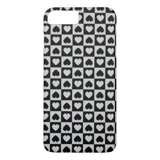 黒いおよび灰色のハートのデザイン iPhone 8 PLUS/7 PLUSケース