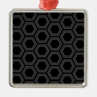 黒いおよび灰色の六角形のボルトデザイン メタルオーナメント