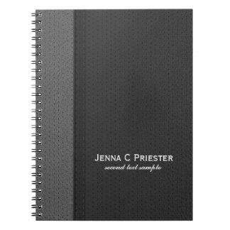 黒いおよび灰色の模造のな革 ノートブック