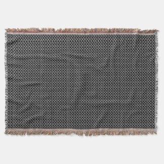 黒いおよび灰色の模造のなChainmail スローブランケット