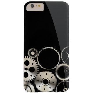 黒いおよび灰色の現実的なギア BARELY THERE iPhone 6 PLUS ケース