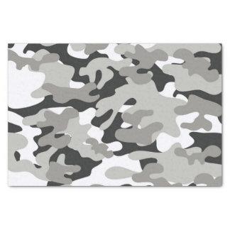 黒いおよび灰色の迷彩柄 薄葉紙