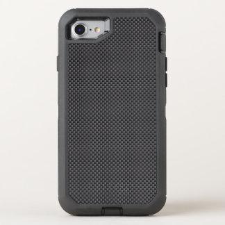 黒いおよび灰色カーボン繊維ポリマー オッターボックスディフェンダーiPhone 8/7 ケース