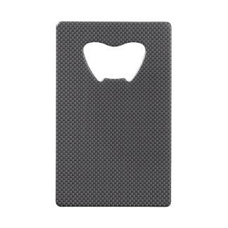 黒いおよび灰色カーボン繊維ポリマー クレジットカード ボトルオープナー