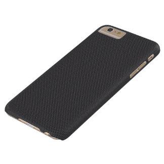 黒いおよび灰色カーボン繊維ポリマー BARELY THERE iPhone 6 PLUS ケース