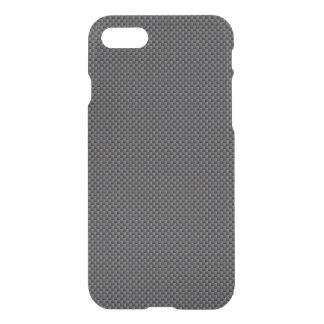 黒いおよび灰色カーボン繊維ポリマー iPhone 8/7 ケース