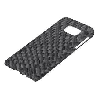 黒いおよび灰色カーボン繊維ポリマー SAMSUNG GALAXY S7 ケース