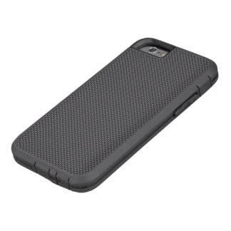 黒いおよび灰色カーボン繊維ポリマー TOUGH XTREME iPhone 6 ケース
