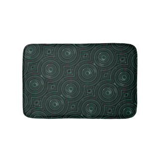 黒いおよび緑のマット バスマット