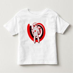 黒いおよび赤のブードゥーの人形 トドラーTシャツ