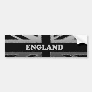 黒いおよび銀製灰色のイギリス英国国旗 バンパーステッカー