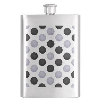 黒いおよび銀製灰色のバスケットボールパターン フラスク