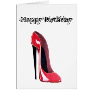 黒いかかと、赤い小剣の靴 カード