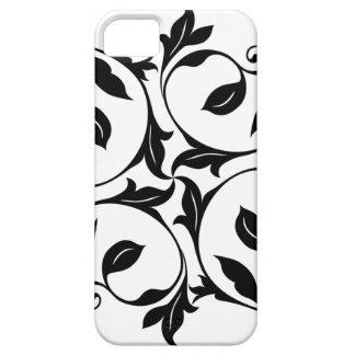 黒いつる植物のiPhone 5の箱 iPhone SE/5/5s ケース