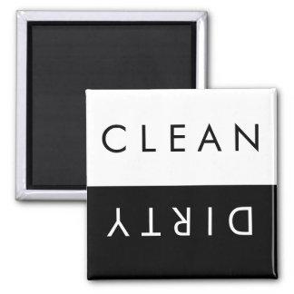 黒いですか白のきれいなか汚れた食洗機の磁石 マグネット