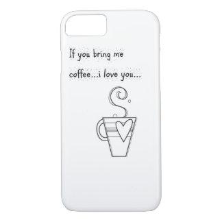 黒いですか白のコーヒー愛iPhone 7カバー場合 iPhone 8/7ケース