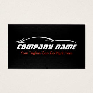 、黒いの車、自動車、カーボン繊維の名刺赤い 名刺