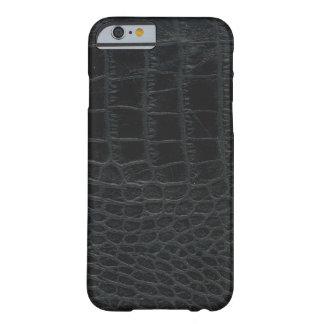 黒いわに皮のiPhone6ケース Barely There iPhone 6 ケース