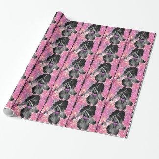 黒いアイリスギフト用包装紙 ラッピングペーパー