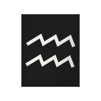 黒いアクエリアス2の(占星術の)十二宮図1月20日- 2月18日 キャンバスプリント
