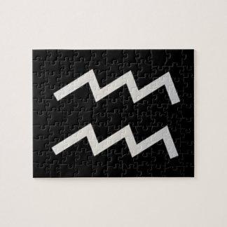 黒いアクエリアス2の(占星術の)十二宮図1月20日- 2月18日 ジグソーパズル