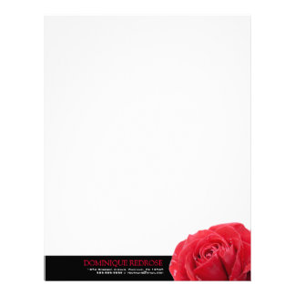 黒いアクセントの赤いバラ レターヘッド