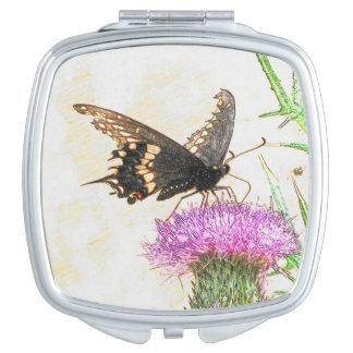 黒いアゲハチョウの蝶スケッチ