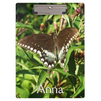 黒いアゲハチョウの蝶自然の写真撮影 クリップボード