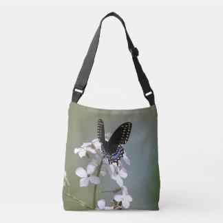黒いアゲハチョウの蝶 クロスボディバッグ