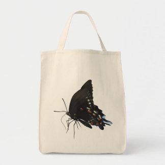 黒いアゲハチョウの蝶 トートバッグ