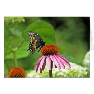 黒いアゲハチョウの蝶 ノートカード