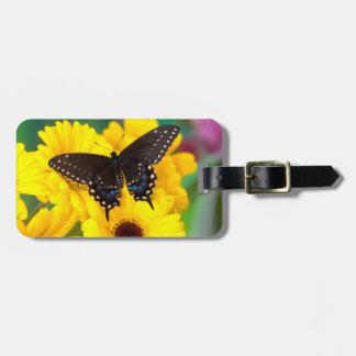 黒いアゲハチョウの蝶 ラゲッジタグ