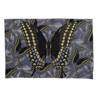 黒いアゲハチョウの蝶 枕カバー