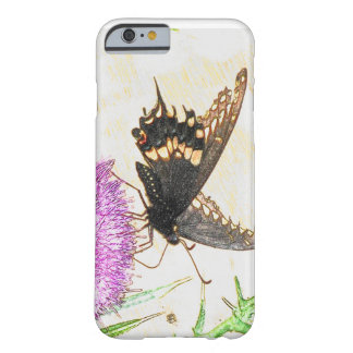 黒いアゲハチョウの電話箱 BARELY THERE iPhone 6 ケース