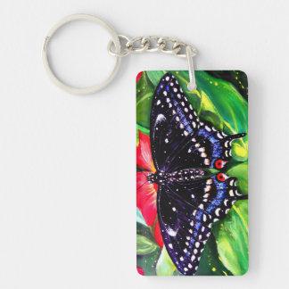 黒いアゲハチョウ キーホルダー